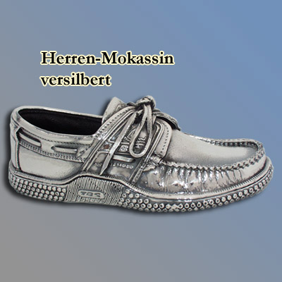 Herren-Mokassin, versilbert