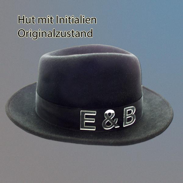 Hut mit Initialien, Original