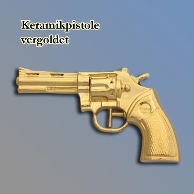 Plastikpistole, vergoldet