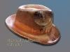 Hut mit Initialien, verkupfert