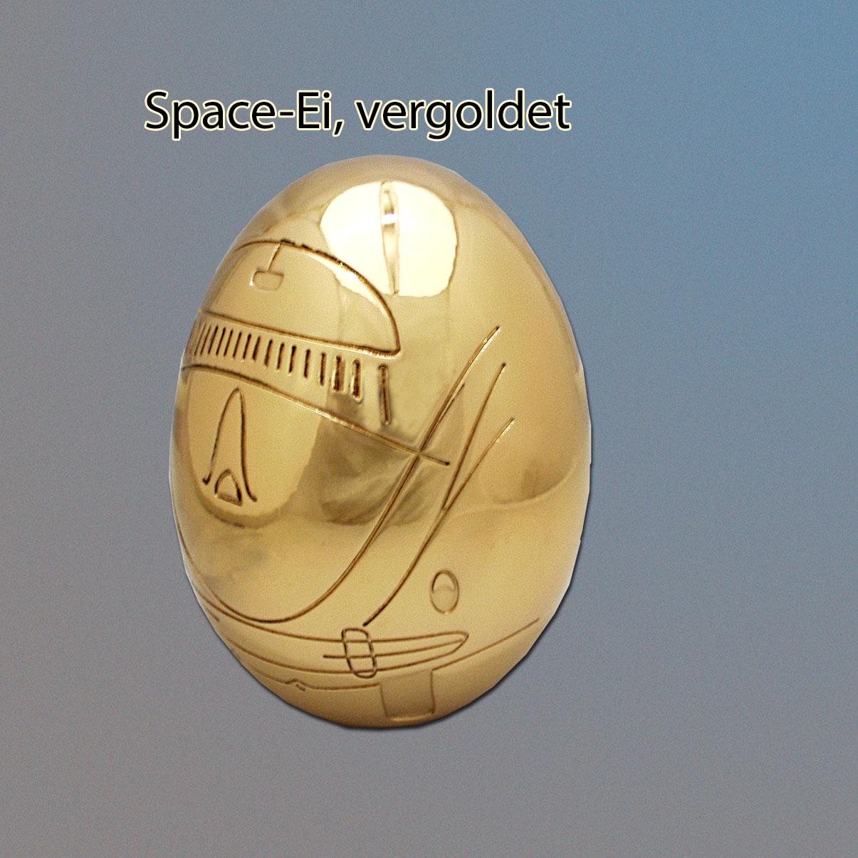 vergoldetes Space-Ei