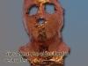 Gipsabnahme eines Kopfes, verkupfert