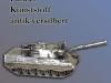 Modellpanzer, versilbert