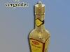 markante Flasche der Marke Maggi, vergoldet