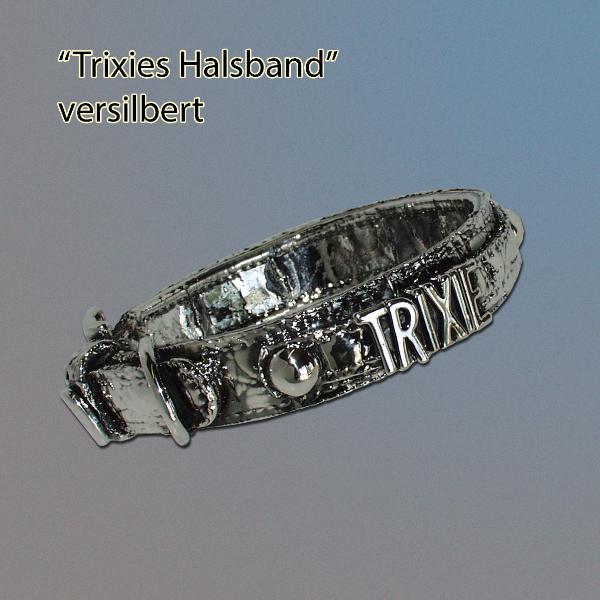 Halsband, versilbert