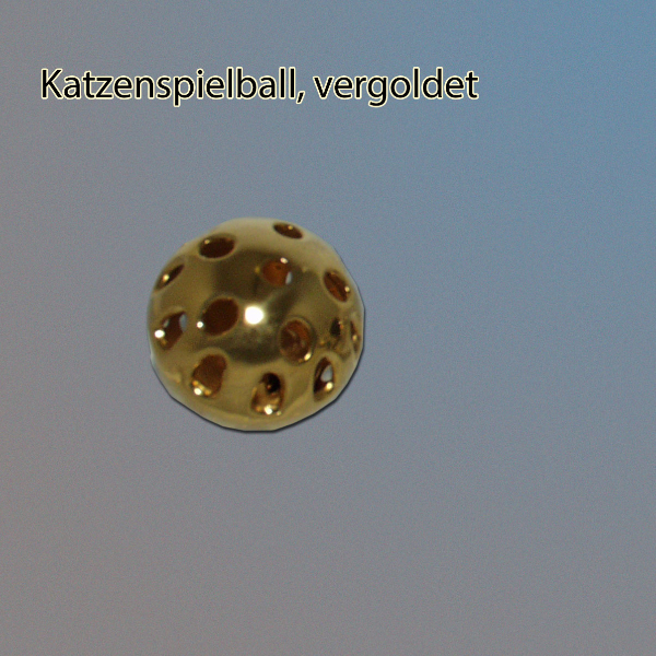 vergoldeter Katzenspielball